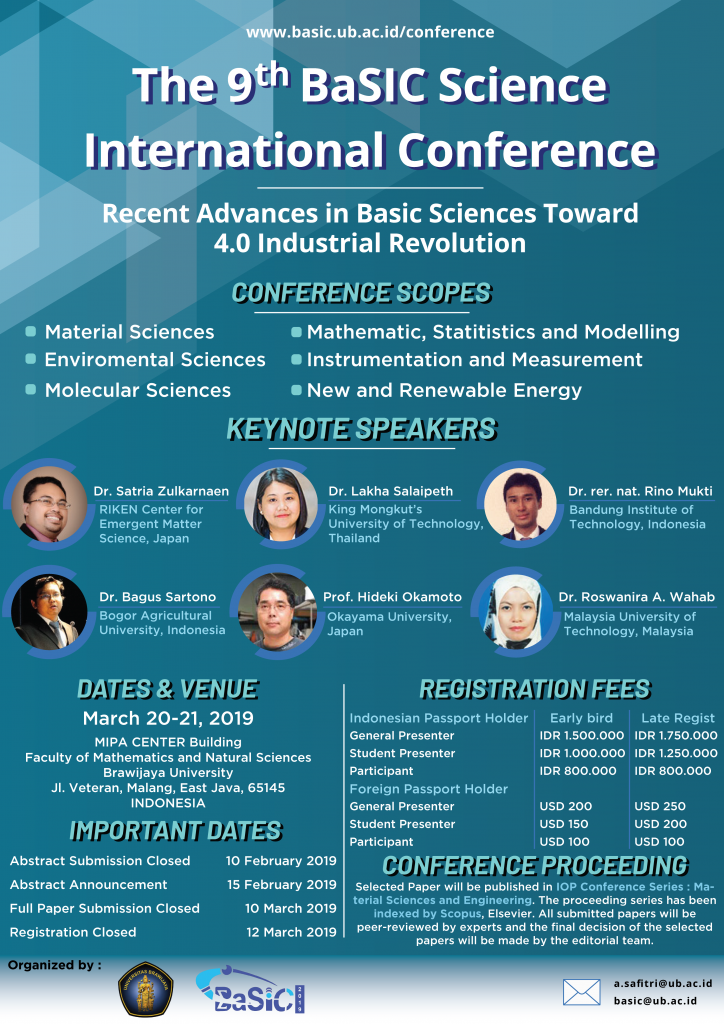 Leaflet First Call BaSIC 2019 – The 9th Basic Science International